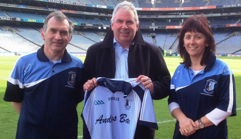 Michael, Jim & Anne at Croke Park - Healthy Club Project