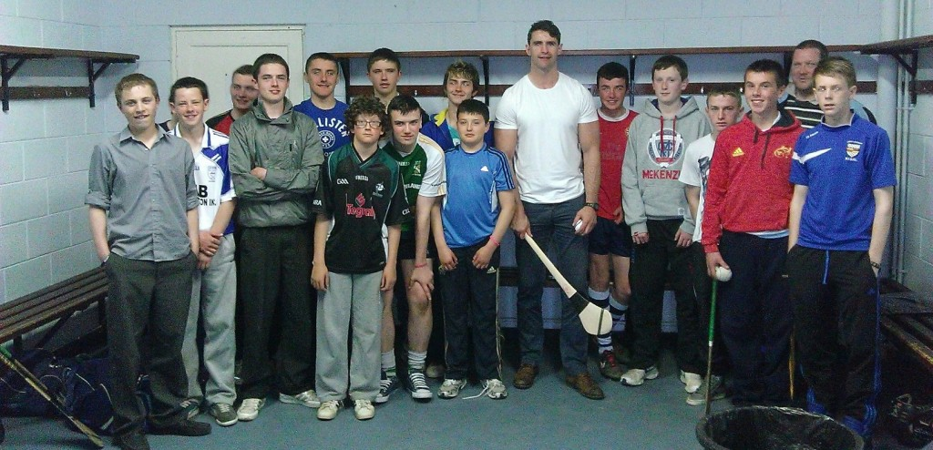 Trevor Hogan pictured with the under-16 hurlers