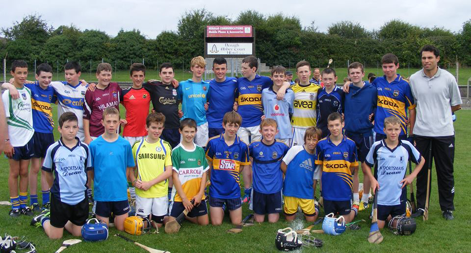 A group pictured with Seán Óg Ó hAilpín