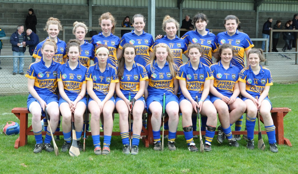 The Tipperary minor Camogie team which beat Wexford 2-7 to 0-8.