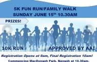 The Blues' 10K Run is scheduled to take place on Sunday, June 15th