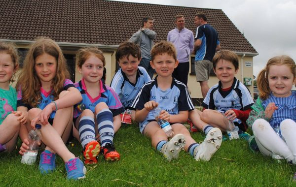 Some of our under-8 hurling and camogie players enjoying themselves in MacDonagh Park, Cloughjordan