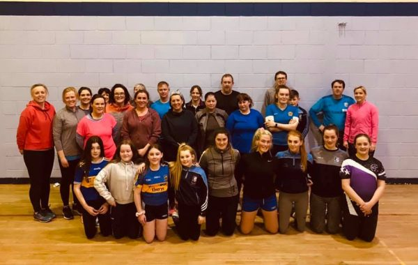 Participants in the camogie section's Get Fit Challenge