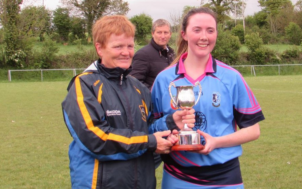 Camogie - Captain Ciara McGrath Accepts Cup