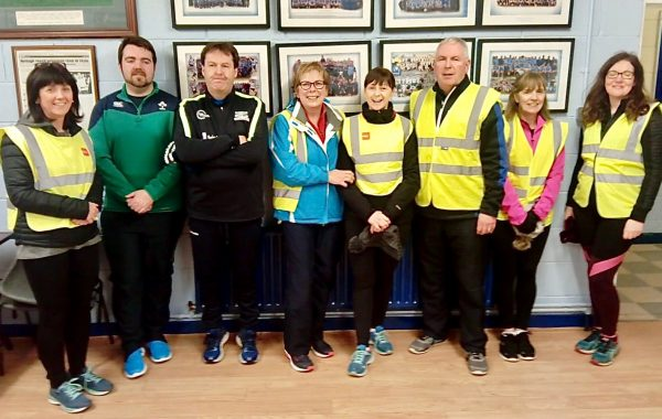 Some of the walkers who completed the 10km route last Tuesday
