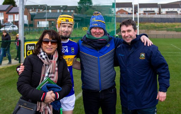 Denise, Jake and Seamie Morris with Enda O'Sullivan at the Fr. Alec Reid tournament on Saturday last