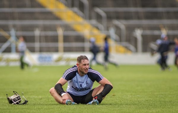 An exhausted Pearse Morris takes it all in at the full-time whistle ©Padraig Hogan