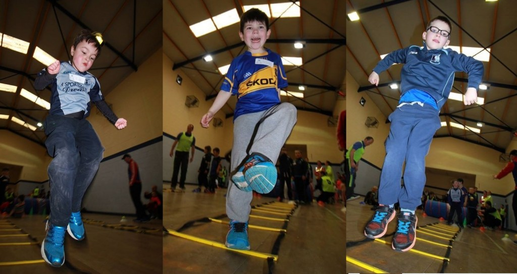 Nenagh Éire Ógres Jumping For Joy at Their Camp.