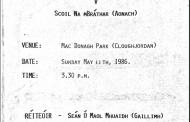 1986 CBS Match Programme