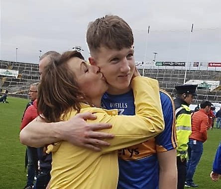 One proud mammy! Denise shares a moment with Jake after today's final