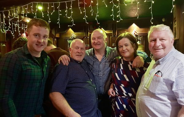 Shane Hennessy, Ger McCarthy, Phil Hennessy, Margaret Hennessy and Kevin Whelan